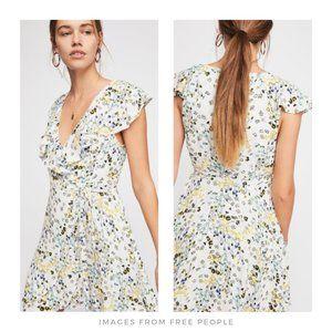 Free People ▪ Floral French QuarterWrap Mini Dress